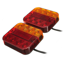 1 Pair LED tail lights headlights universal truck towing caravans 12 / 24V