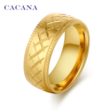 CACANA Stainless Steel Rings For Women Connected X Mark Fashion Jewelry Wholesale NO.R77(China)