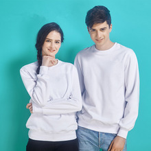 Winter male head round neck sweater cashmere thick long sleeved jacket solid blank class service customized advertising T-shirt(China)