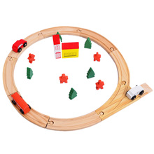 Diecasts Toy Vehicles Kids Toys Wood Tree Thomas Train Toy Model Cars Wooden Slot Track Rail Transit Gift(China)