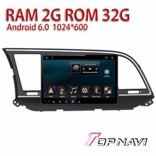 Auto Multimedia for Hyundai Elantra 2016 10.1'' Android 6.0 WANUSUAL 32GB Inand Radio Tuner with free Map Update Reverse Camera(China)