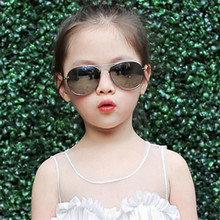Children Goggle Girls Alloy Sunglasses Hot Fashion Boys Girls Baby Child Classic Retro Cute Sun Glasses(China)