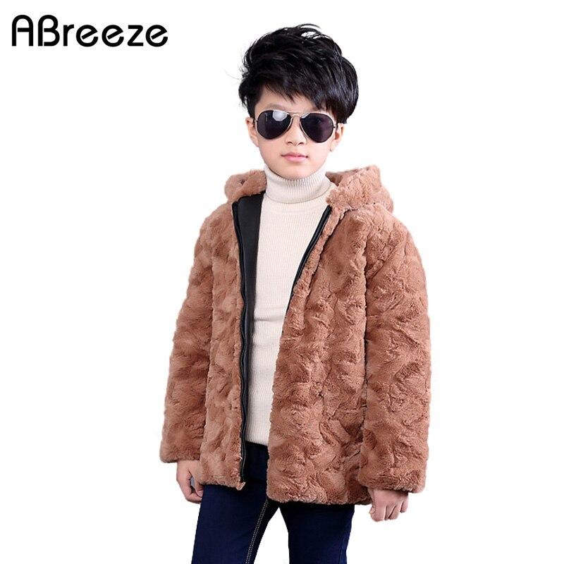 New 2017 Thicken Winter children jackets Boys Faux fur coat hooded Kids thermal warm Outerwear SnowsuitÎäåæäà è àêñåññóàðû<br><br>
