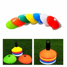 New 10pcs/lot 19cm Cones Marker Discs Soccer Football Training Sports Entertainment Accessories(China)
