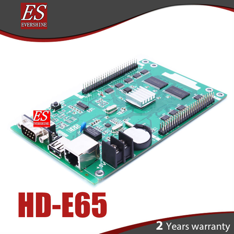 E65 HD-E65(HD-E43)/HD-E66 Single and Dual color led panel controller Support usb and lan port and rs232<br>