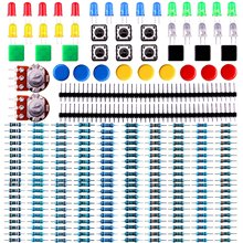 HX-Studio Electronics component pack with resistors, LEDs, Switch, Potentiometer for Arduino UNO, MEGA2560(China)