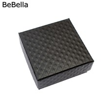 BeBella jewelry box paper gift box packaging size 7.5x7.5x3.5 cm in white and black colors