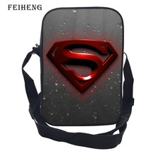 2016 Hot Sale 10-Inch Printing Cool Hero Superman Womens Shoulder Bag Kids Messenger Bag Mens Handbag for Children Gift Bags