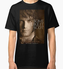 New Jamie Fraser Outlander Men's Black Tees Shirt Clothing
