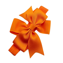 1 Piece Baby Girls Hair Bow Tie Ribbon Decor Hairband Headband (Orange)(China)