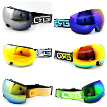 Hot Sale 6 Styles New  Brand Ski Goggles Double UV400 Anti-Fog Big Ski Mask Glasses Skiing Men Women Snow Snowboard Goggles