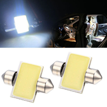 1Pcs Super Bright 31mm 12V COB Dome Festoon LED Car Bulb Auto Lamp Bulb Interior Light Lamps parking DC12V