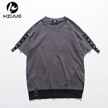HZIJUE 2017brand summer high street fashion short sleeve hip hop clothes Original Design tops Personality classic brand t shirts