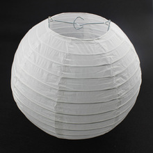 "10pcs 16"" 40cm White Chinese Paper Lantern Lamps Wedding Party Birthday Decoration White Hanging Paper Ball Lampion"