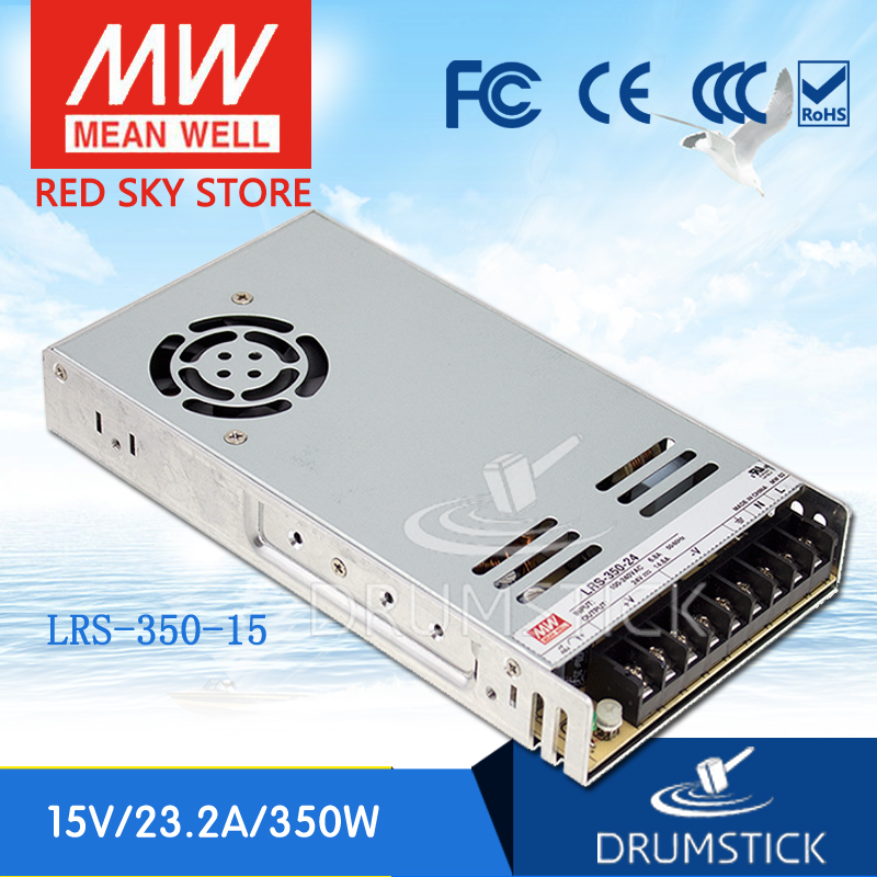 (12.12)MEAN WELL original LRS-350-15 15V 23.2A meanwell LRS-350 15V 348W Single Output Switching Power Supply<br>