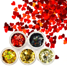 1Box Lover Heart Pattern Nail Sequins Holo Colorful Sparkle Nail Art Decorations DIY Laser Nail Glitter Paillette LALB200-1000(China)