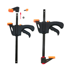 1pcs 4 Inch Wood-Working Bar Clamp Quick Ratchet Release Speed Squeeze DIY Hand Tools Color Random(China)