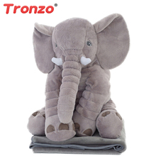 Tronzo 60cm 5 Colors Kawaii Elephant Pillow Stuffed Animal Plush Toys Decoration Cushion Valentines Gif For Girl Child Wholesale(China)