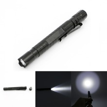 Mini Aluminum Penlight Life Waterproof LED Flashlight Torch 1 Mode Skid-proof Lantern Portable Flash Light Use AAA