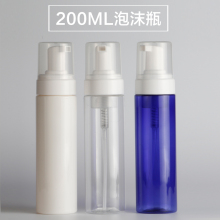 200ML transparent/white/blue foaming PET bottle with foaming pump used for foaming dispenser or soap dispenser cleaner bottle