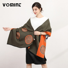 Vomint 190cm x 65cm 2017 New Fashion Warm Scarf Winter Women Scarf Female Cotton Solid Scarf Best Quality Pashmina Studios(China)