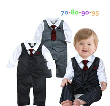 New 2017 Spring Baby Clothes Baby boys Gentleman Clothing Boys Long Sleeves Clothes Baby Kids Wear Boy's Romper Retail()