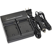 Battery Charger AC/DC Dual For BP-970 BP-970G BP-975 Optura Pi Ultura Vistura XF300 XF305 XH A1 G1 G1S A1S XM1 XM2 XV1 XV2 GL2