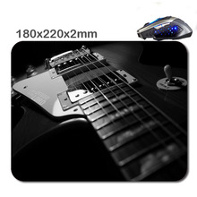 180*220*2mm/290*250*2mm Abstract Music Les Paul Guitars Customized Rectangle Gaming Mouse Pad - Durable Office Accessory Gift