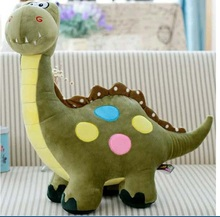 Cute cartoon dinosaur plush toys, soft plush doll  children's games Large doll birthday gift 55cm