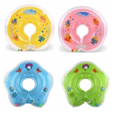 Swimming Baby Accessories Swim Neck Ring Baby Tube Ring Safety Infant Neck Float Circle For Bathing Inflatable Newest Drop(China)