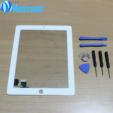 NEW white Black Touch Screen Digitizer Panel Glass for iPad 2 Screen Sensor + 7 in 1 Opening Tools Kit