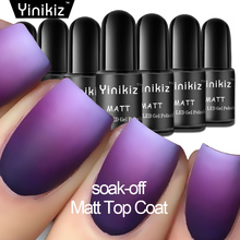 Yinikiz Matt Surface Layer Matte Top Coat Gel Polish Lak Nail Vernis Dull Finish Top Gel Uv Nail Polish Transparent Glue(China)