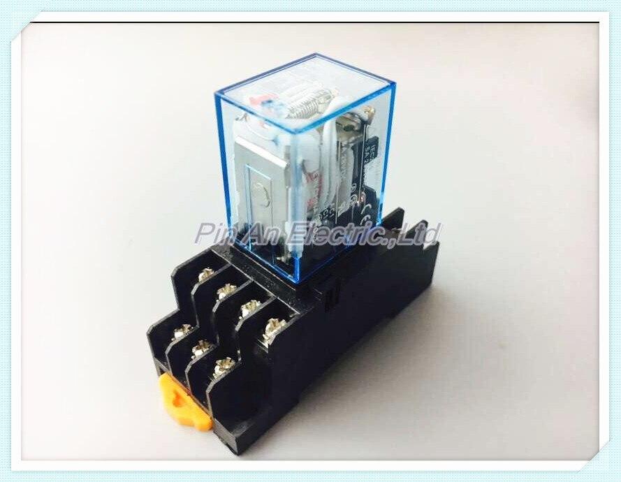 1set 220V AC Coil Power Relay MY4NJ HH54P-L 14 Pin 5A With PYF14A Socket Base<br><br>Aliexpress
