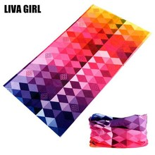 Liva Girl Fashion Printed Headband Bandana Scarf Multifunctional Seamless Face Mask Tube Ring Scarf Men Women Accessories