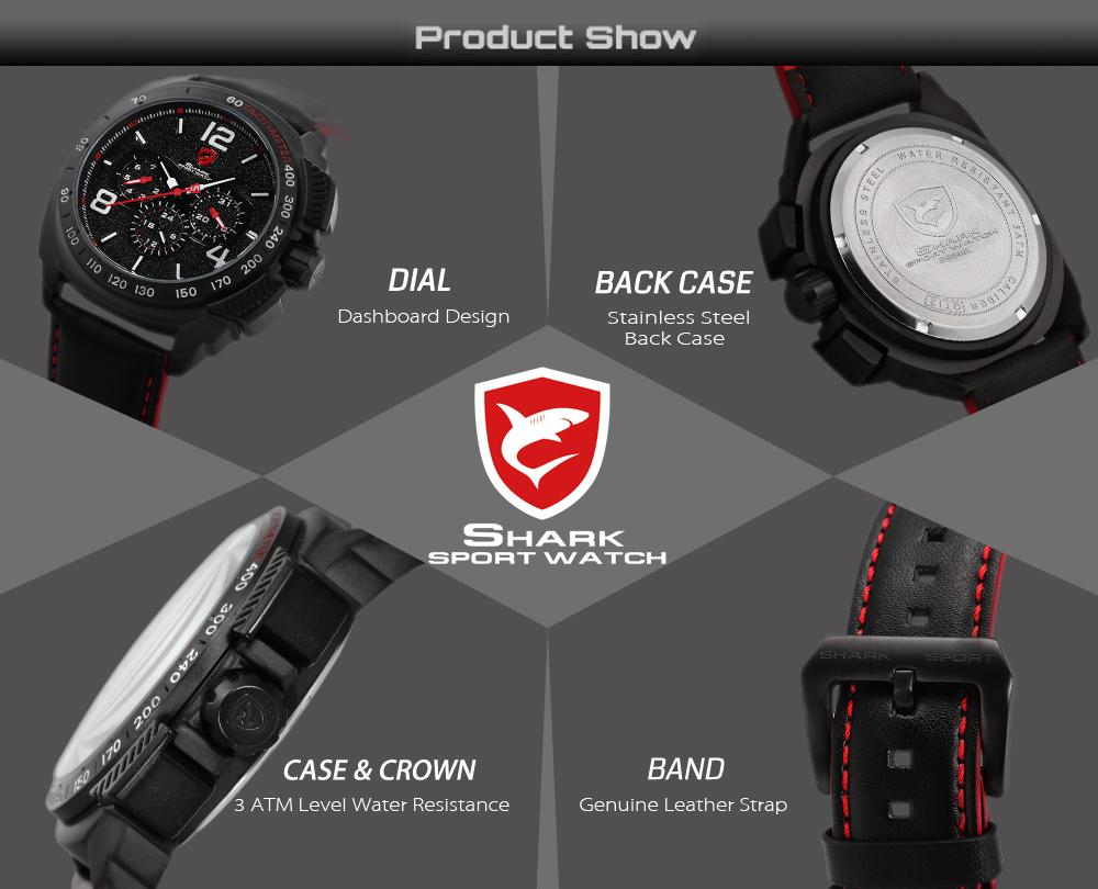 HTB1SkW4RFXXXXcFXpXXq6xXFXXX2 - Tiger Shark 3rd Generation Sport Watch - Red SH417