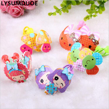 LYSUMDUOE Hello Kitty Bow Kids Hair Accessories BB Rim Girls Crystal Scrunchy Girl Headband Cute Elastic hair Bands Headbands