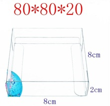 100PCS PVC Clear Boxes 8x8x2cm Toy Car Gift Dispaly Box Wedding Candy Boxes Plastic Packaging Transparent Boxes