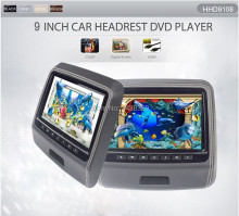 "New Black 9"" Inch Headrest Car DVD Player Monitor with HDMI USB TFT LED Digital Screen Speaker Game Joystick IR FM"