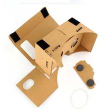 Cardboard + Resin Lens Highest Quality Vr Glasses DIY Cardboard Quality 3D Vr Virtual Reality Glasses For Google