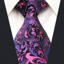 A11  Purple Floral Silk Handmade Jacquard Woven Wedding Fashion Classic Mens Necktie Tie extra long size Hanky