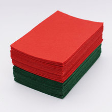 Red Green Color Series Felt Craft 1mm Felt Polyester Fabrics Sheet For Diy Decoration Sewing Fieltro Feltro textiles Entretela(China)