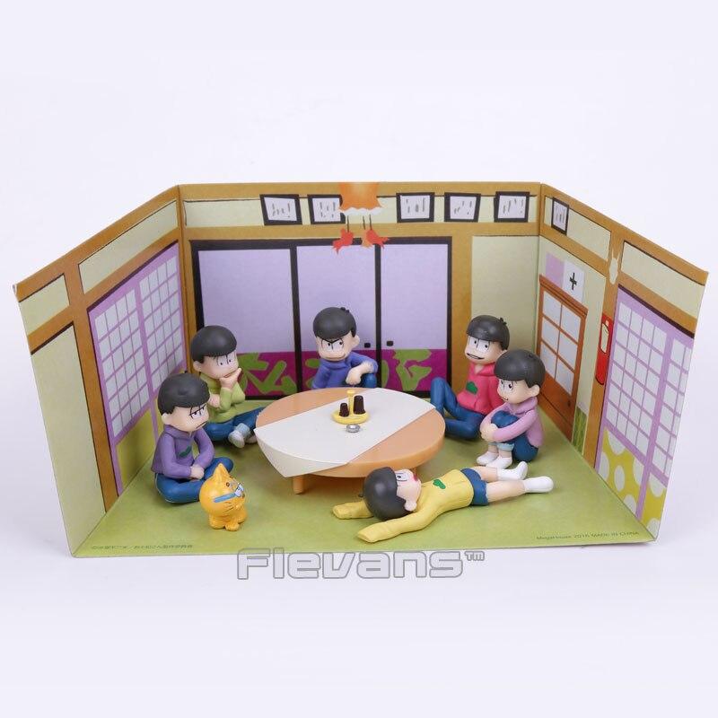 Osomatsu San Mr osomatsu san Karamatsu Ichimatsu Mini PVC Figures Collectible Model Toys 6-pack 5cm<br><br>Aliexpress