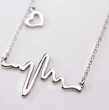 925 Sterling Silver Irregular Heart Necklaces & Pendants For Women Luxury Love Necklace Sterling Silver Jewelry collier D68