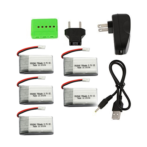 5Pcs 3.7V 750mAh 5 in 1 Lipo Battery Charger for RC Syma X5 X5C X5A X5SC X5SW Cheerson CX30 CX30W CX30S JJRC H5C H9D V931 F949<br><br>Aliexpress