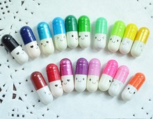 50pcs/lot Creative Love Pills Gift Rolls Pills Lucky Wishing Bottle Capsule Love Letter Stationery Paper Envelopes Mixed Color(China)