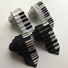 Unique Design Musical Ties with Piano Keyboard Mens Necktie FREE SHIPPING(China)
