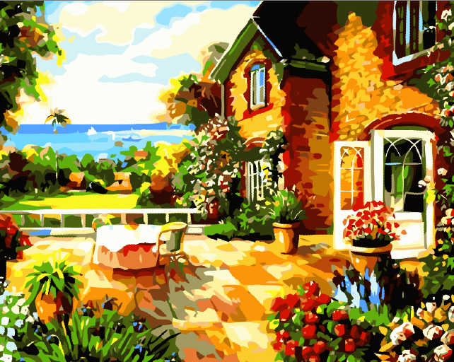 New On Wall Acrylic Paint Modern Style Picture DIY oil Painting garden Coloring By Numbers home decoration By Numbers(China (Mainland))