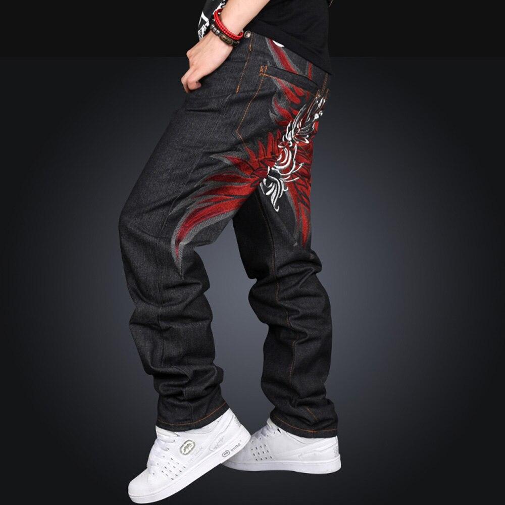 Brand Men Casual Black male Hip Hop Baggy Loose Jeans Designer Street Dance Skateboard Denim Pants Plus Size 004Одежда и ак�е��уары<br><br><br>Aliexpress