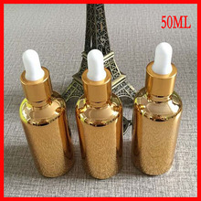 50ml essential oil glass bottle dropper w golden-plated makeup containers small pefume containers perfume atomizer sample bottle
