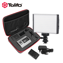 Tolifo Exclusive PT-15B Kit Ultra thin LED Video Light Kit for DSLR Cameras with Battery Charger and Other  Accessories